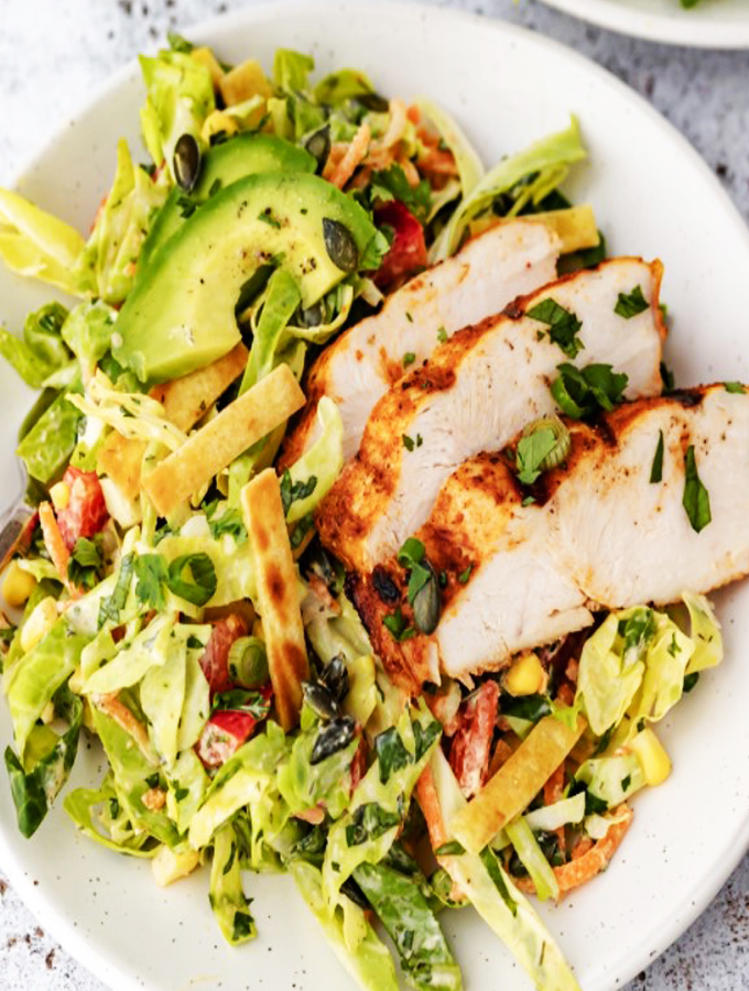 Ranch Chopped Chicken Cabbage Salad