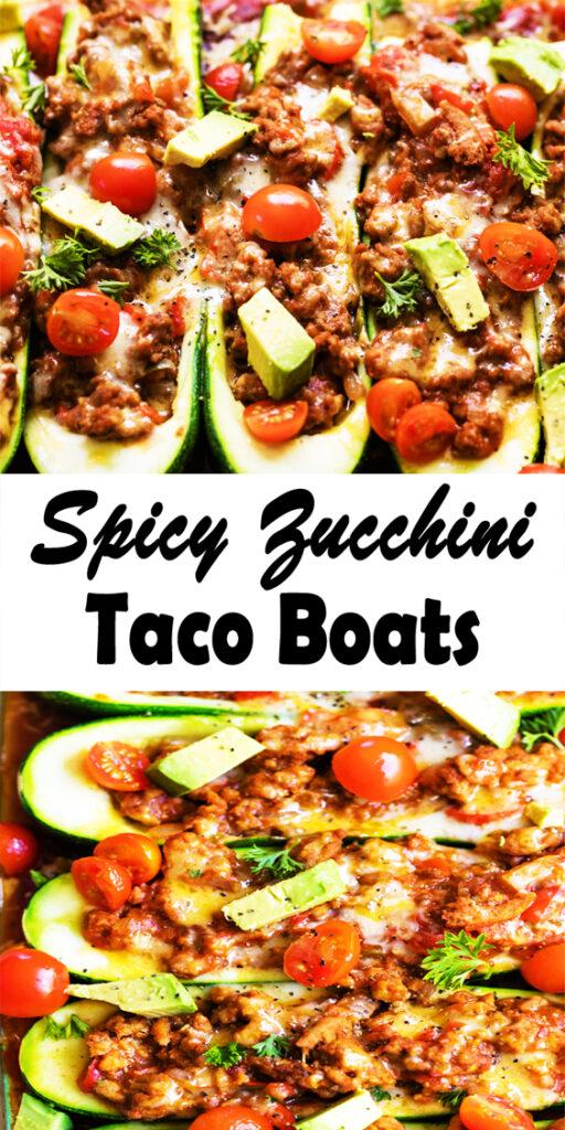 easy Spicy Zucchini Taco Boats